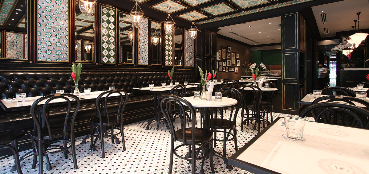 Amazing Step Into A Warm And Elegant Dining Space Enveloped In Black And Gold  Trimmings, Mirrors And Original Peranakan Tiles And Make Yourself Feel At  Home. Part 9