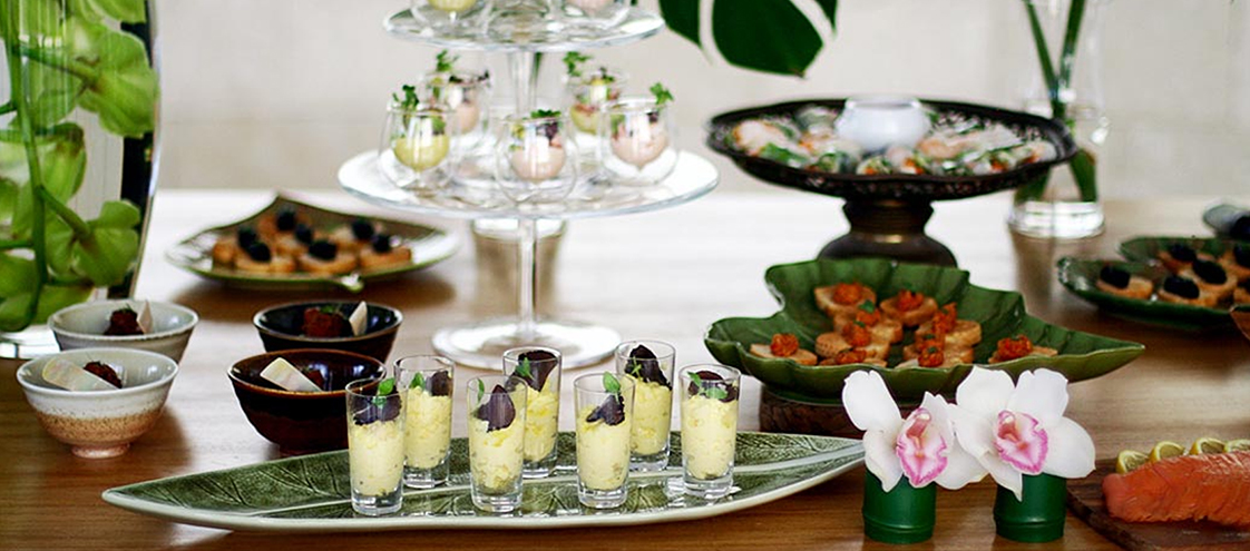 Home parties violet oon singapore for Canape catering singapore